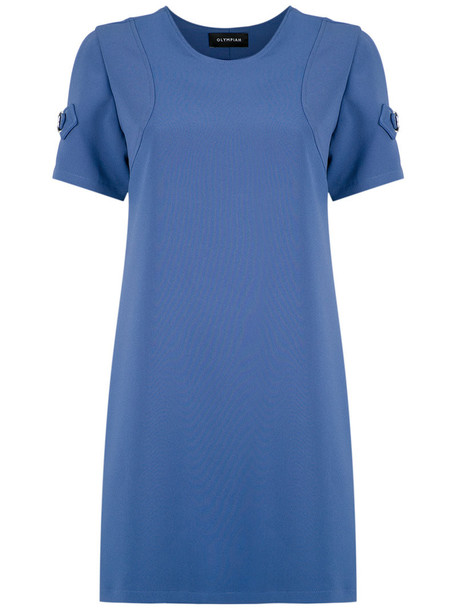 Olympiah dress shift dress women spandex blue