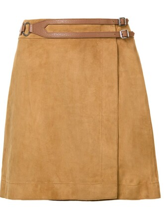 skirt mini skirt mini women nude suede