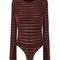 Chani chenille striped bodysuit