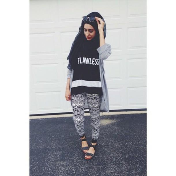 top flawless flawless shirt beyonce shirts b&w shirt hijab cardigan