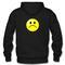 Sad emoticon hoodie back