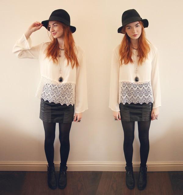 hannah louise fashion top skirt shoes hat coat