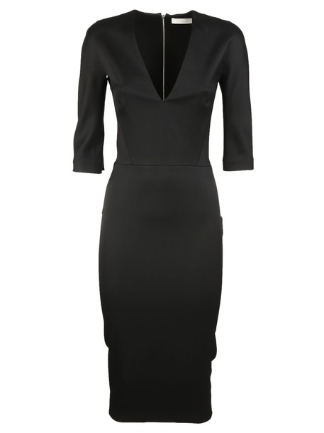 Victoria Beckham dress v neck black