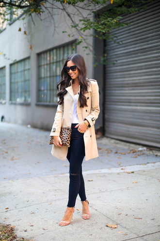 with love from kat blogger jeans bag leopard print trench coat alexander wang
