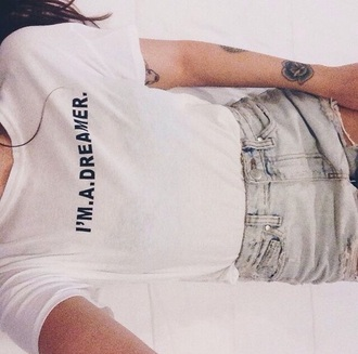 shirt graphic tee t-shirt dreamer t shirt with words need  cute