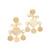 Kenneth Jay Lane Fancy Drop Earrings - Satin Gold