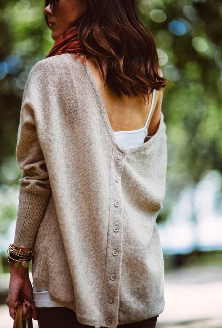 Autumn Batwing Sleeve Casual Pullover Sweater