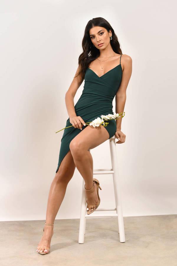 Maddie Hunter Green Bodycon Dress