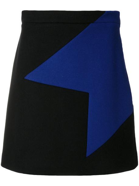 MSGM skirt mini skirt mini women geometric black wool