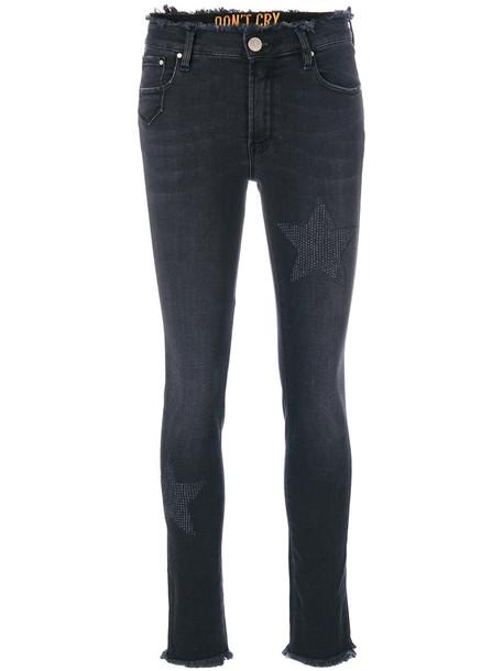 Don't Cry jeans women spandex cotton black