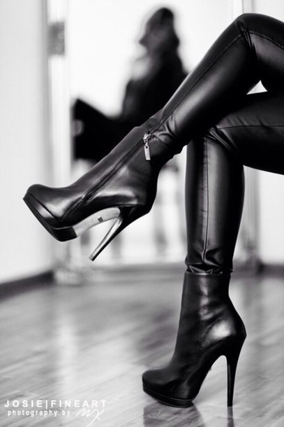 shoes heels black  high heels leather black shoes