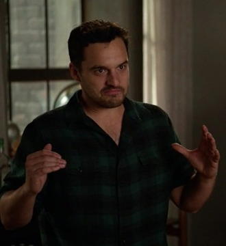 shirt new girl nick miller jake johnson green menswear plaid
