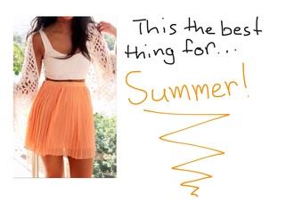 skirt white bra orange skirt jacket