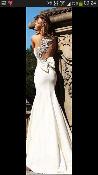 dress long prom dress prom dress white dress