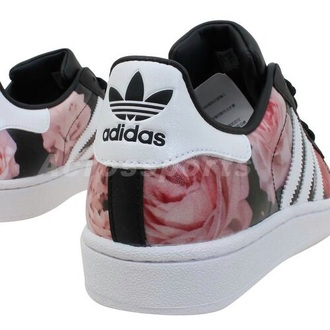 shoes adidas flowers floral adidas floral adidas superstars