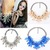 1PC Gorgeous Women Cluster Crystal Statement Necklace Women Bib Choker Perfect