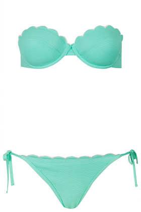 Mint scallop bikini