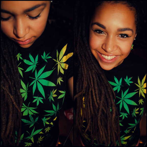 shirt marie jane marijuana dreads