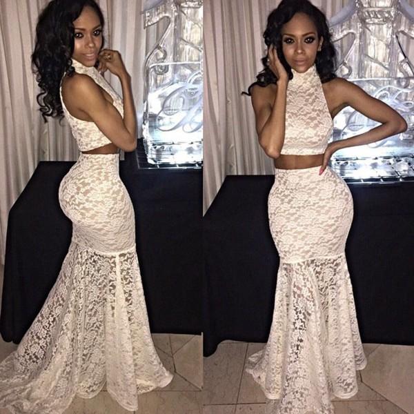Club l prom dress ivory