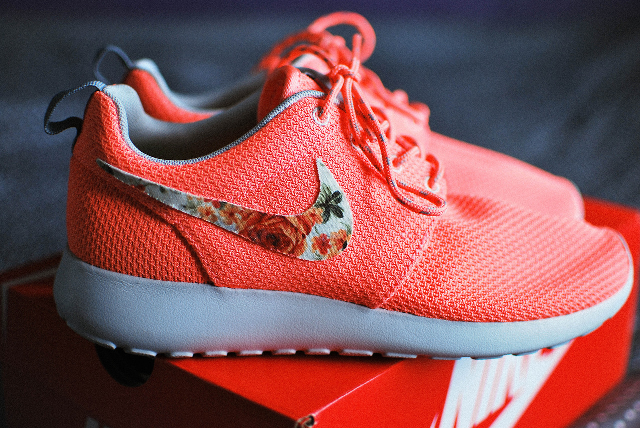 Affidavit (coral florals from the swoosh series, which are a...)