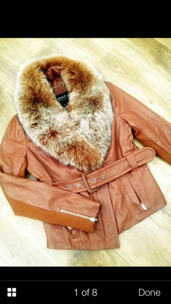 jacket fur jacket coat tan