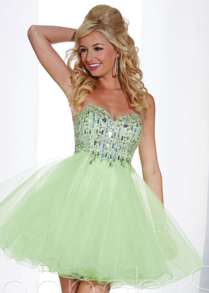 Hannah S 27876 Spring Green Sequin Sweetheart Dress [Hannah S 27876] - $152.50 : Shop Cheap Prom/Homecoming Dress 2014 on Darlingprom
