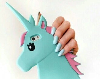 phone cover unicorn blue cute iphone 6 case