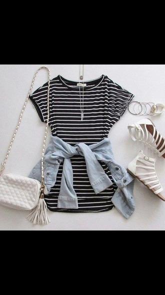 dress striped dress teenagers urban short sleeve t-shirt dress