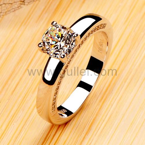 0.8 Carat NSCD Diamond Platinum Half Eternity Custom Ring ...
