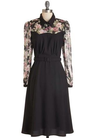dress black floral dress floral black dress collar dress collar