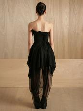 black dress,sheer,dress