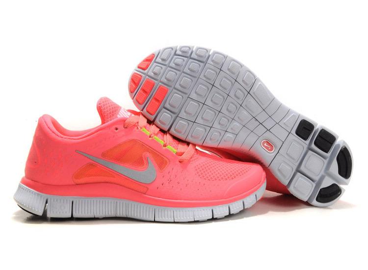 Chussures Running Femme Nike Free Run & Nike Roshe Run Rose Fluo Moins Cher 2014