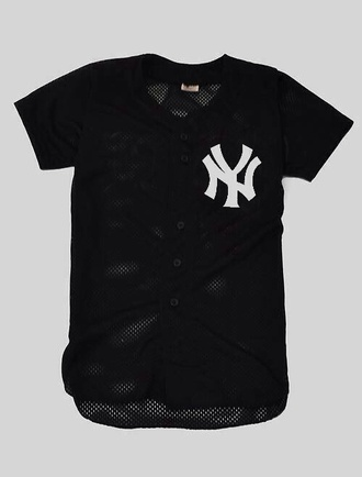 ny new york city sneakers jersey swag baseball tee baseball dope simple yankees ny jersey new york jersey trill plain mesh fashion killa chanel sportswear wavy fresh haute