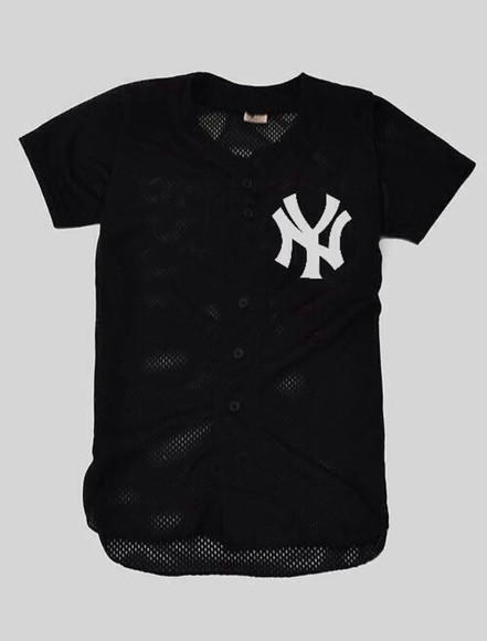new york city ny swag dope simple baseball jersey yankees baseball tee ny jersey new york jersey trill plain mesh fashion killa chanel