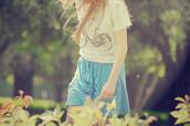 skirt,blue skirt,pokadot,shirt