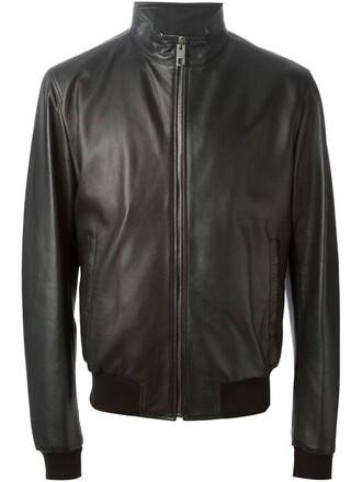 jacket zip leather