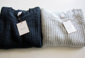 sweater,whool,blue,white