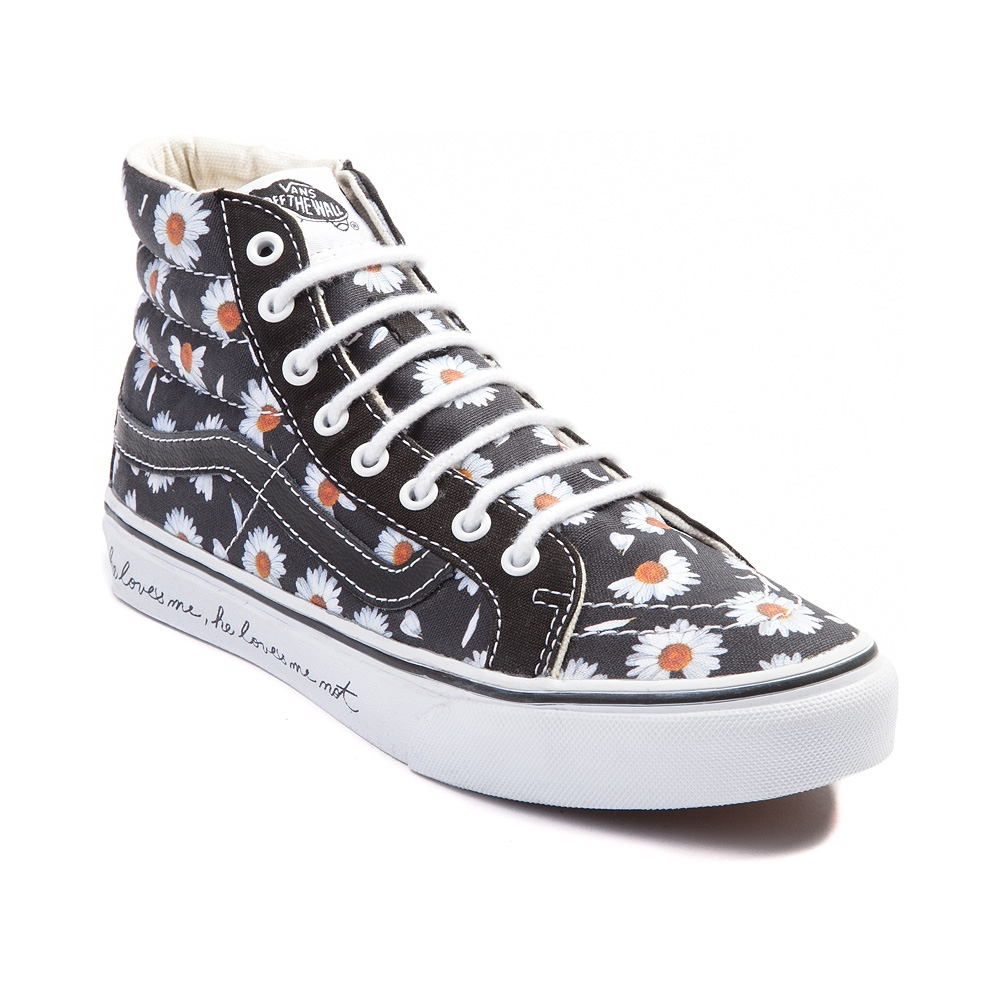 black and white high top vans journeys