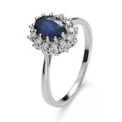 jewels,impressimo,white gold,classic,diamonds,diamond rings,sapphire ring,engagement ring,pierścionek,szafir,pierścionek z szafirem,z brylantami,białe złoto,blue wedding accessory