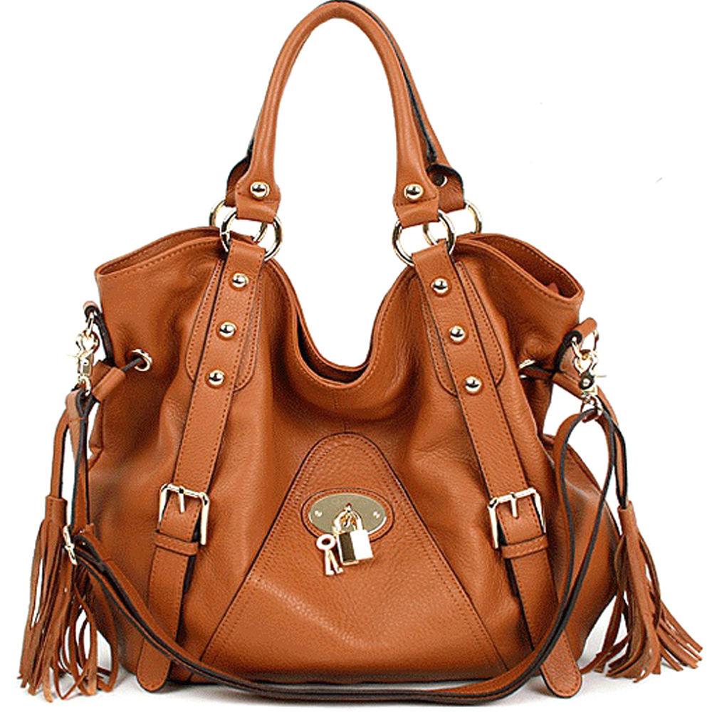 New leather HandBag Shoulder bag tote Ladies Brown hobo Designer black Satchel