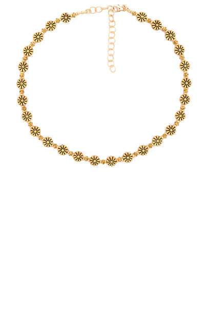 Frasier Sterling daisy metallic gold jewels