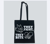 bag,itchy and scratchy,black,drop dead clothing,the simpsons
