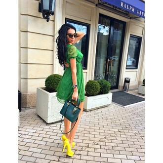 shoes high heels yellow shoes yellow