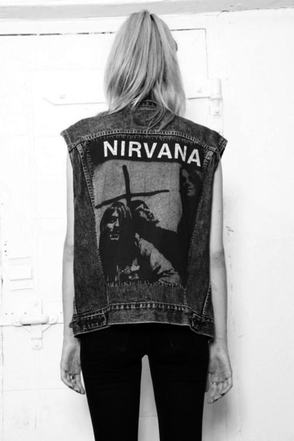 jacket nirvana coat best grunge denim nirvana jacket denim jacket