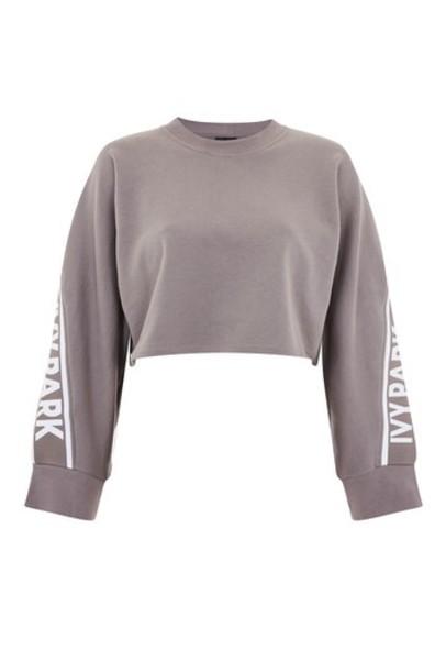 Topshop sweatshirt grey sweater