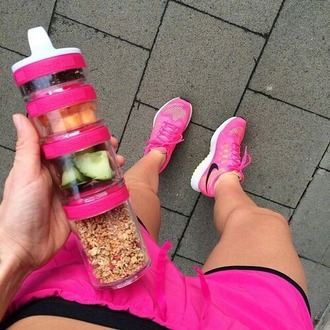 home accessory pink healthy living healthy fit life fruits lifestyle summer sports shorts shoes