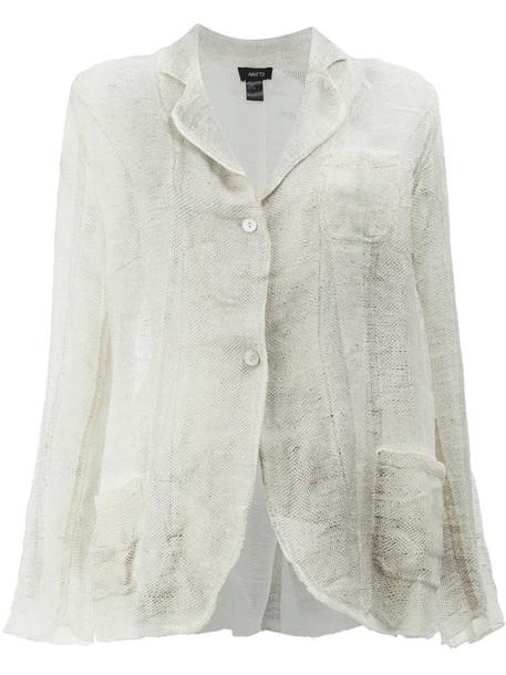 blazer women soft white cotton jacket