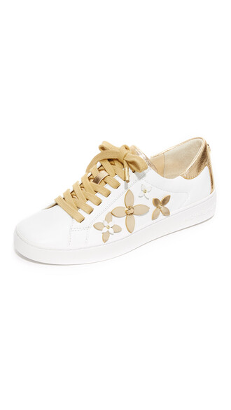 pale sneakers gold white shoes