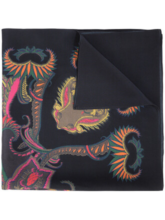 women scarf black silk