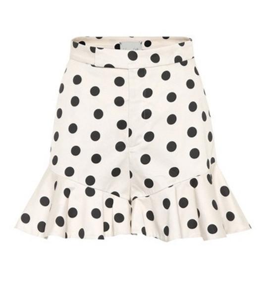 Johanna Ortiz Exclusive to mytheresa.com – San Blas polka-dot cotton shorts in white